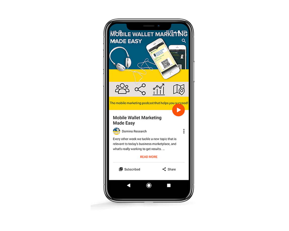 Podcast episode on mobile