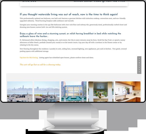 Single Property Listing Web Page